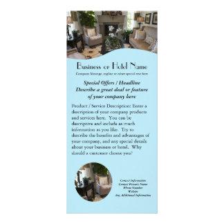 Travel, Hotel, Decorator Rack Cards Flyer Printing