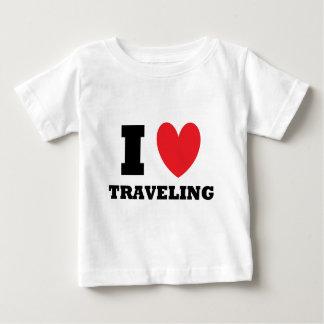 Travel.  I Love Traveling Baby T-Shirt