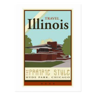 Travel Illinois Postcard