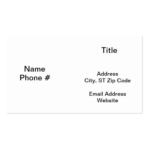 Travel in Blk/Wht Business Cards (back side)