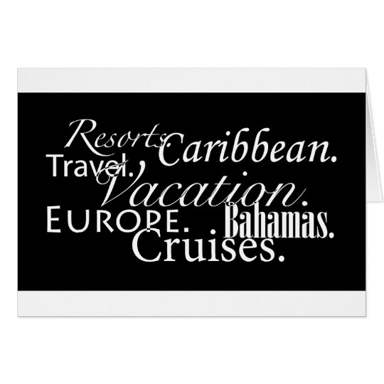 Travel in Blk/Wht-Notecard Card