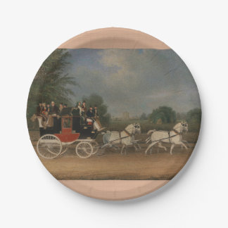 Travel in England, 1835. Paper Plate