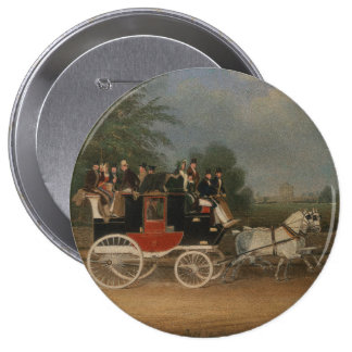 Travel in England, 1835. Pinback Button