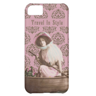 """""""Travel In Style"""" Vintage Collage Cover For iPhone 5C"""