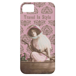 """""""Travel In Style"""" Vintage Collage iPhone 5 Case"""