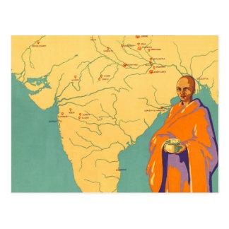 Travel India Land of Lord Buddha Vintage Postcard