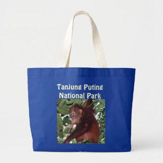 Travel Indonesia Tanjung Puting National Park Large Tote Bag