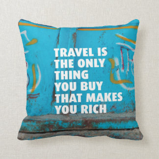 Travel inspiration mindfulness home deco pillow