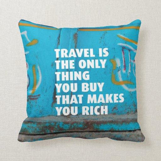 Travel inspiration mindfulness home deco pillow