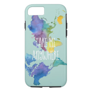 Travel Inspired Watercolor Phone Case