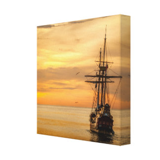 Travel into the unknown canvas print