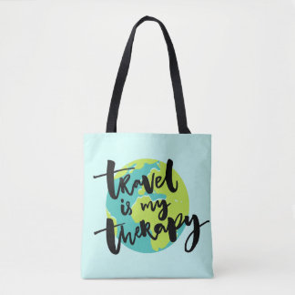 Travel is my Therapy Tote Bag