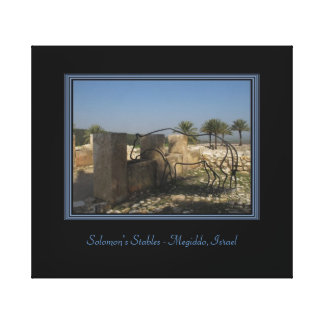 Travel Israel Wrapped Canvas Print