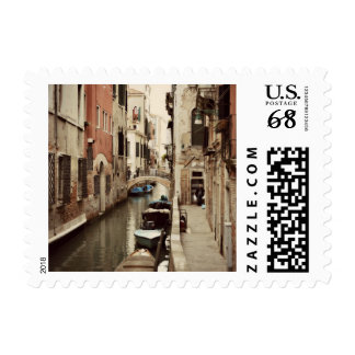Travel Italy Venice Canal History Postage
