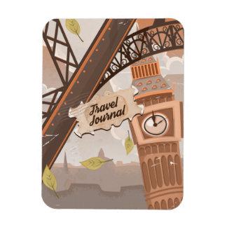 Travel Journal. Rectangular Photo Magnet