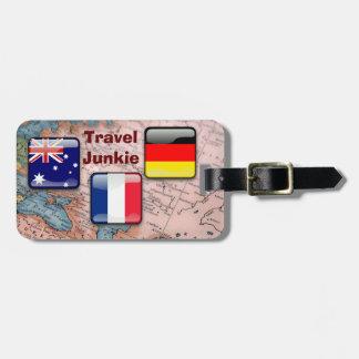 Travel Junkie - luggage tag