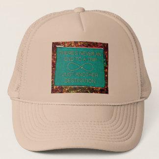 Travel Junkie Motto Trucker Hat