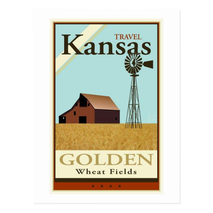 Travel Kansas Postcard