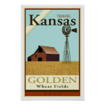 Travel Kansas Poster