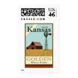 Travel Kansas Stamp