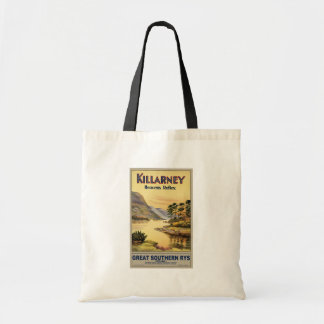 Travel Killarney Ireland by Railways Vintage Budget Tote Bag
