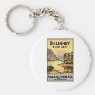 Travel Killarney Ireland by Railways Vintage Keychain