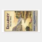 Travel Killarney Ireland by Railways Vintage Rectangular Sticker