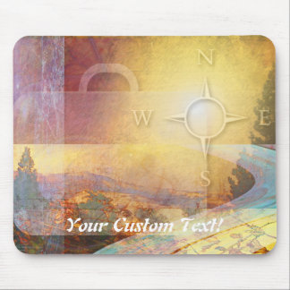 Travel Light Vibrant Gold Mouse Pad