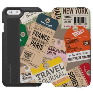 Travel Locations Pattern iPhone 6/6s Wallet Case