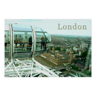 Travel London Poster
