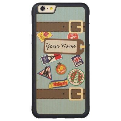 Travel Luggage Bumper Maple iPhone 6 Plus Case