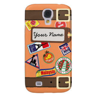 Travel Luggage with Sticker Samsung Galaxy S4 Case