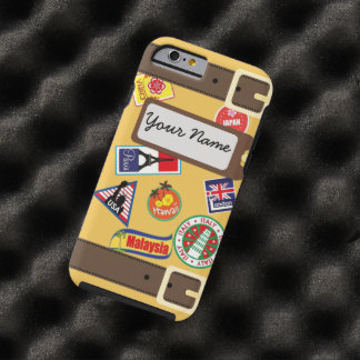 Travel Luggage with Stickers iPhone 6 Case