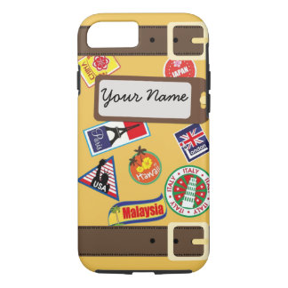 Travel Luggage with Stickers iPhone 7 Case