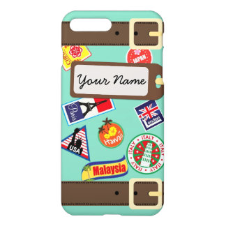 Travel Luggage with Stickers iPhone 7 Plus Case