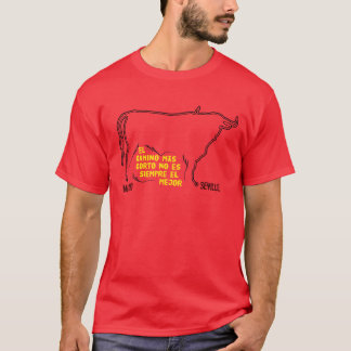 Travel Madrid to Seville animal silhouette cow T-Shirt