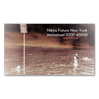 Travel magnetic photography business card