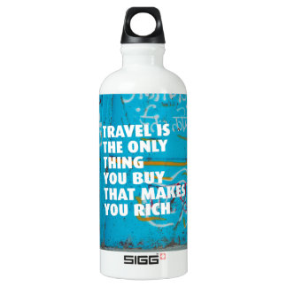 Travel makes you rich quote SIGG traveler 0.6L water bottle