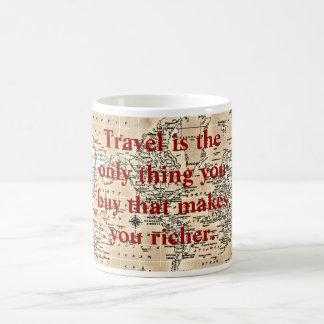 Travel makes you richer -coffee mug