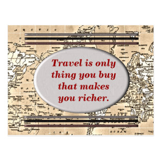 Travel makes you richer - postcard