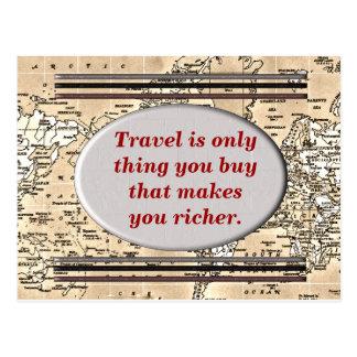 Travel makes you richer - postcard