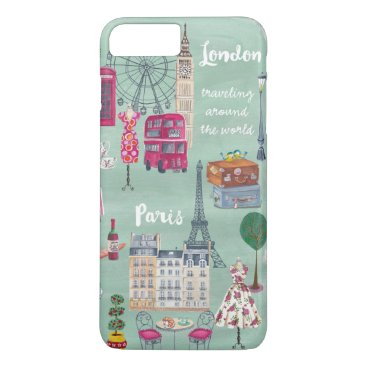Travel map London Paris | iPhone 7 plus Case