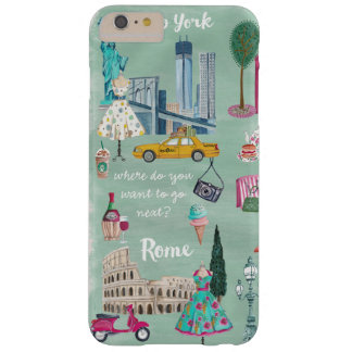 Travel map New York Rome | Iphone 6 plus Case
