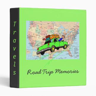 Travel Memories Binder (Lime Green)