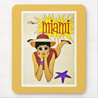 Travel Miami Florida Beach Vintage Mouse Pad