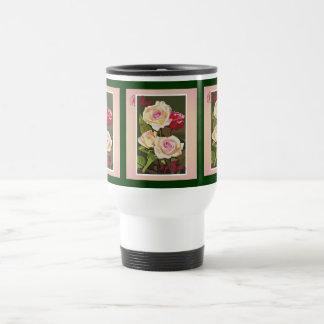 Travel mug- A Rose 15 Oz Stainless Steel Travel Mug