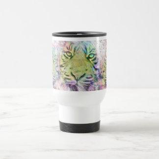 Travel Mug - Artzy Tiger Portrait