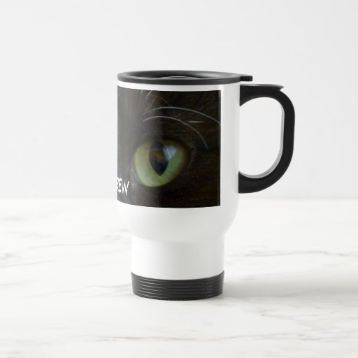 Travel Mug: Black Cat Eyes