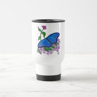 Travel Mug - butterfly blue