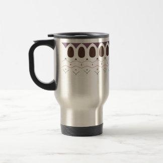 Travel Mug - Coffee Bean Design - Mauve Purple